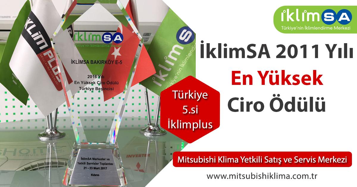 İklimSA 2012 Yılı En Yüksek Ciro Ödülü Türkiye 5.si İklim Plus